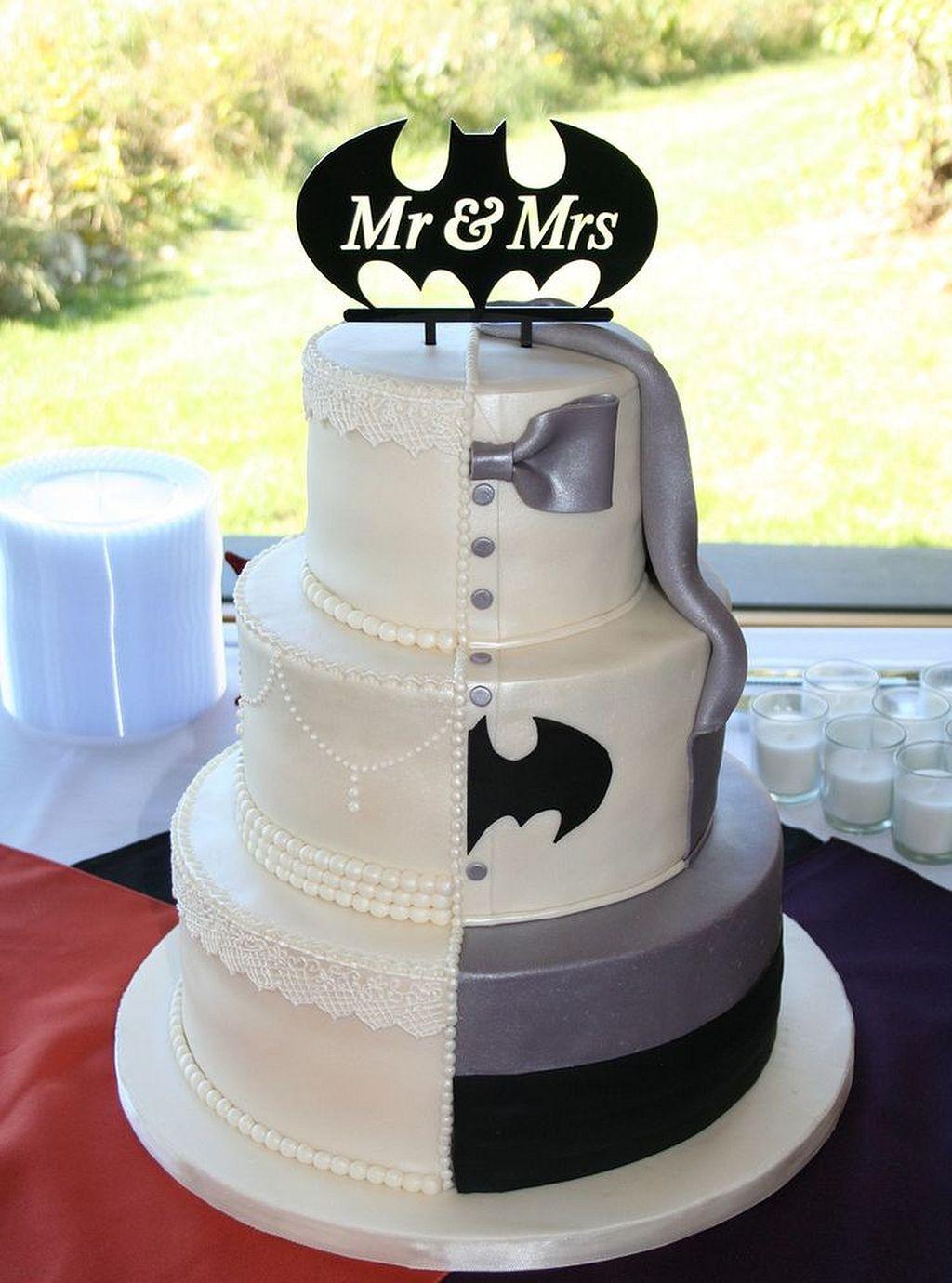 Batman Wedding Cake.Superhero Themed Wedding Ideas 190 1 000 Wedding Cakes You Ll Fall