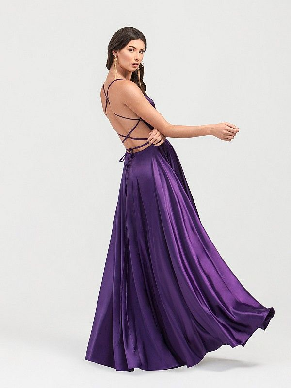 6922803582ff Val Stefani 3401RY includes a crisscross low back and a peekaboo front  slit. This a-line prom dress is both flowy and light weight, allowing you  to freely ...