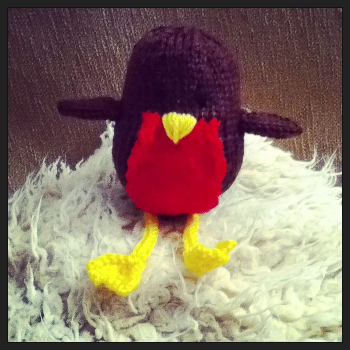 This Is Robbie Robin Knitted By Me From The Free Kit That Came With Let S Knit