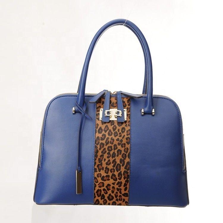 Fashion designer Ali baba top sale blue women fashion leather handbag  wholesale manufacturer handbag factory price 2c103ca3cf46b