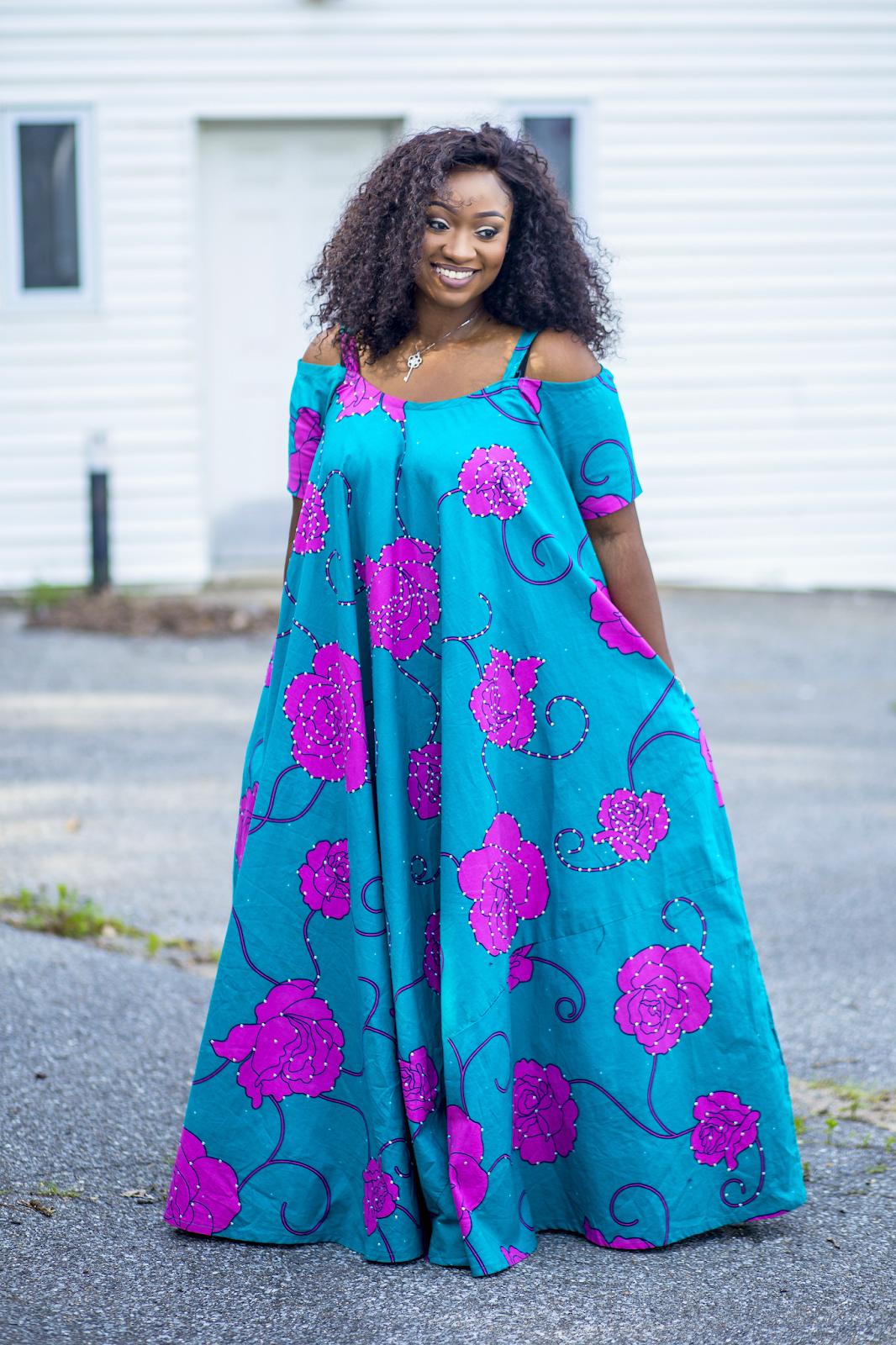 Plus size DIY ankara style. Full flare maxi dress | Plus size DIY ...