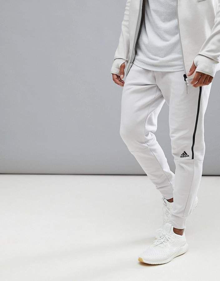 Adidas adidas ZNE Striker Joggers In Cream CG2188~CLICK TO