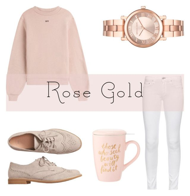 """""""Rose gold"""" by malianayoung on Polyvore featuring rag & bone, Off-White, Gap and Michael Kors"""