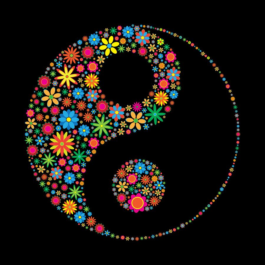 Bigstock Flower Ying Yang 8975134 Jpg Jpeg Image 900 900 Pixels Mandala Rock Art Dot Art Painting Yin Yang Art
