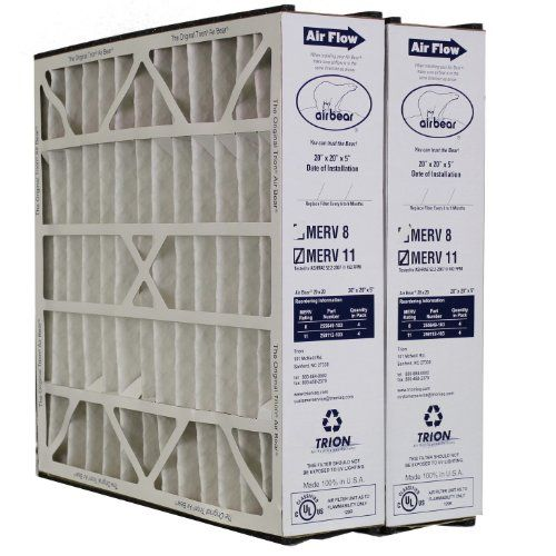 Trion Air Bear Filter 259112103 Merv 11 20x20x5 2pack Be Sure
