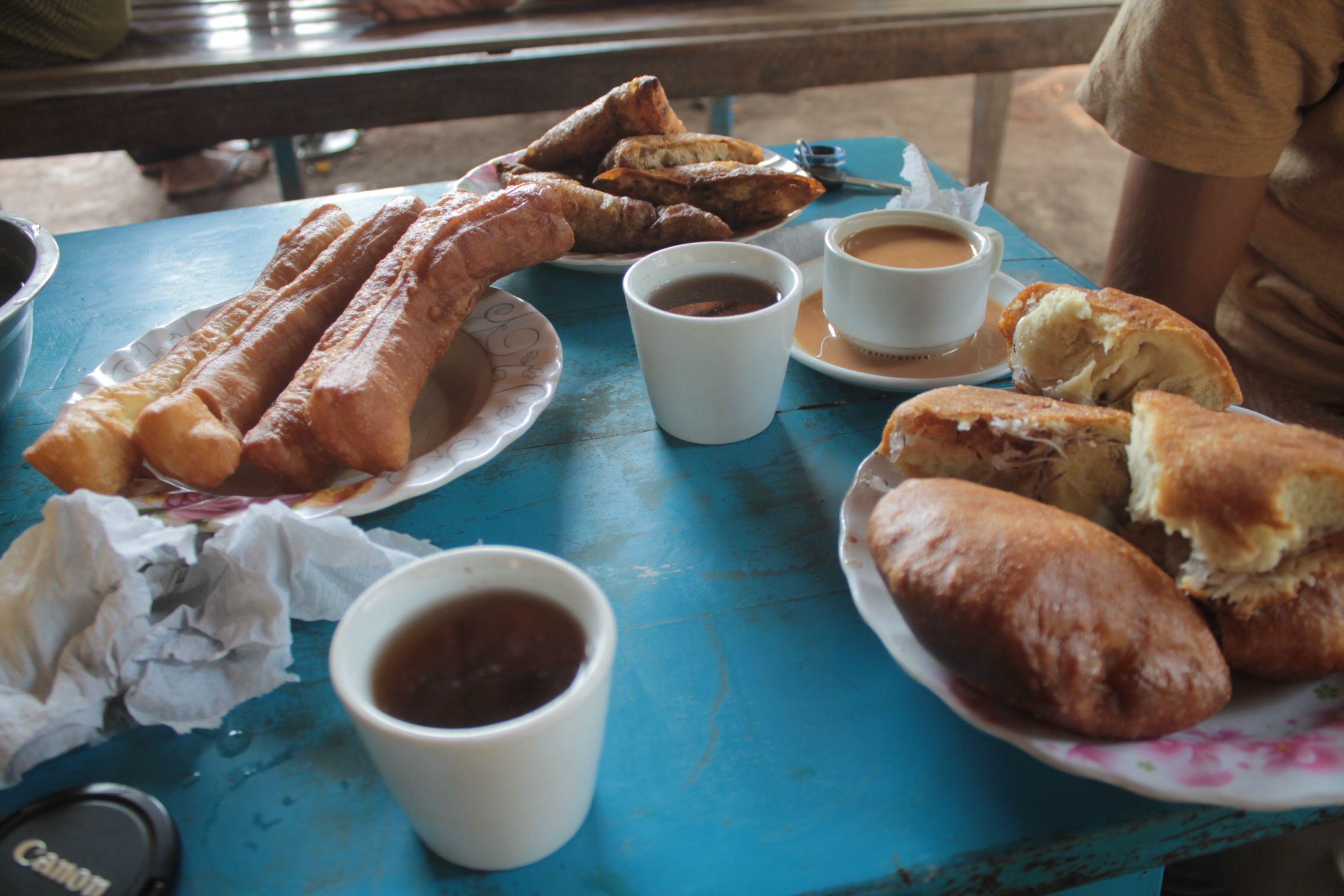 Las deliciosas meriendas/desayunos Birmanos