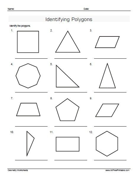 Polygon Practice Worksheets In 2020 Identifying Polygons