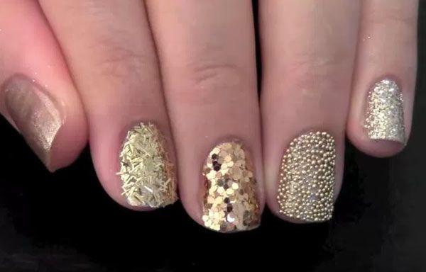 Uñas decoradas con glitter – UñasDecoradas CLUB  – Peinados facile