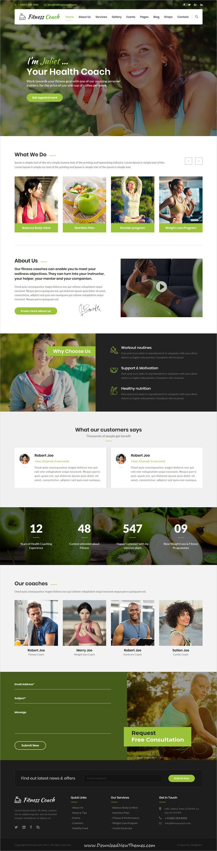 Fitness Coach Is Clean And Modern Design 5in1 Responsive Bootstrap Theme For Health Fitness An In 2020 Personal Trainer Website Coach Website Online Fitness Trainer