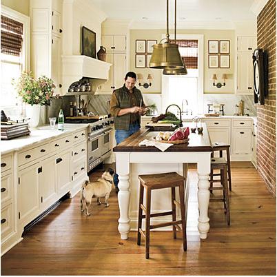 Like the farm table for an island | Kitchens | Pinterest | Farmhouse ...