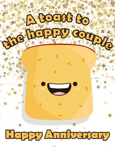 Let S Toast Happy Anniversary Card Birthday Greeting Cards By Davia Anniversary Funny Happy Anniversary Funny Happy Anniversary Quotes