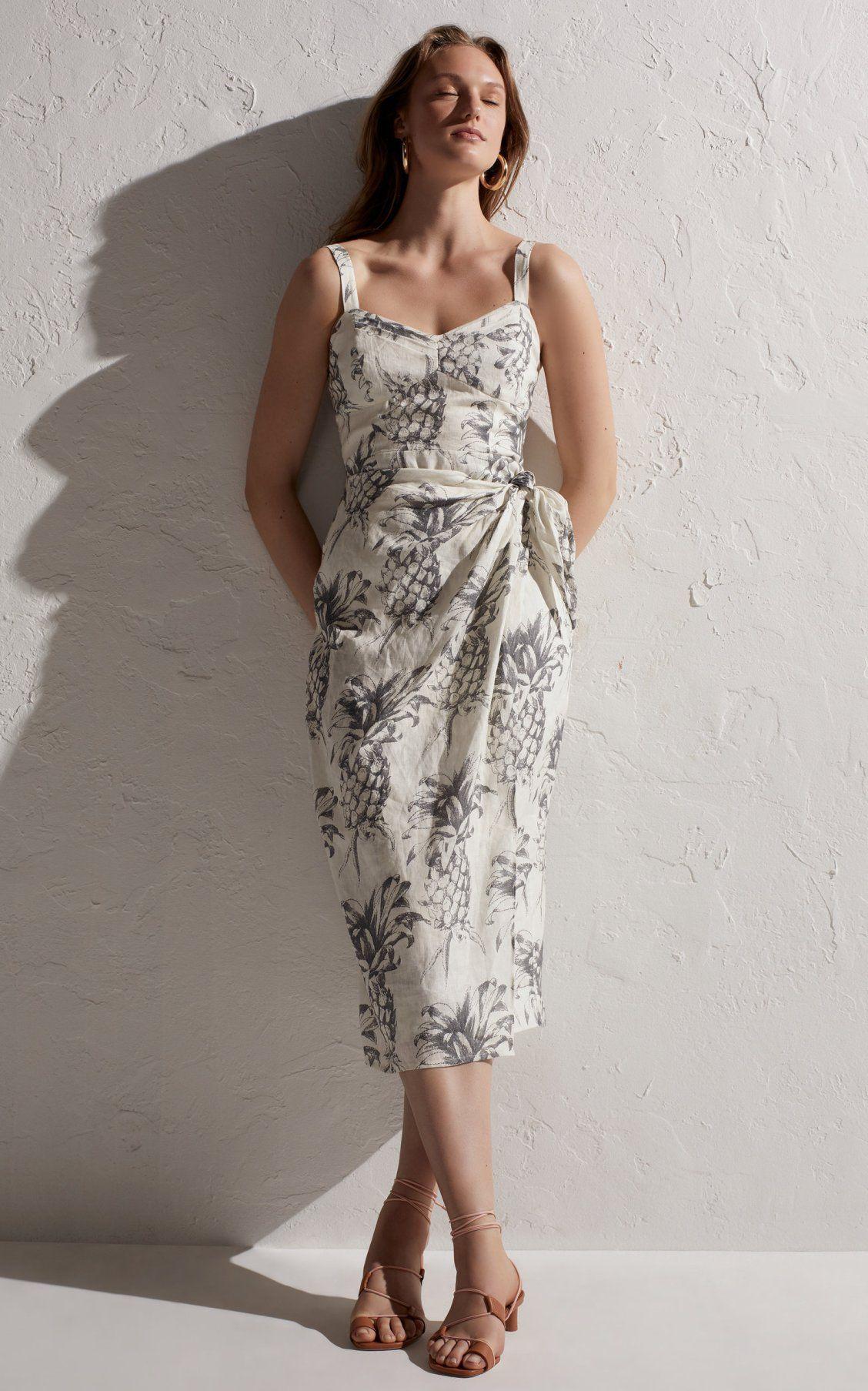 702a7eb5a32 Wayfarer Printed Linen Wrap Dress by Zimmermann