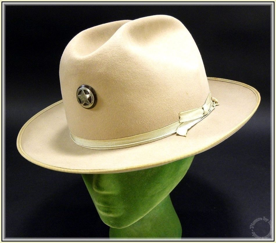 d7abf7106d009 1950 s Vintage Western Royal Stetson Cowboy Police Hat   Texas Ranger Badge