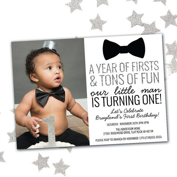 Little man birthday invitation first birthday invitation boy bow little man birthday invitation first by littlehamcollection filmwisefo