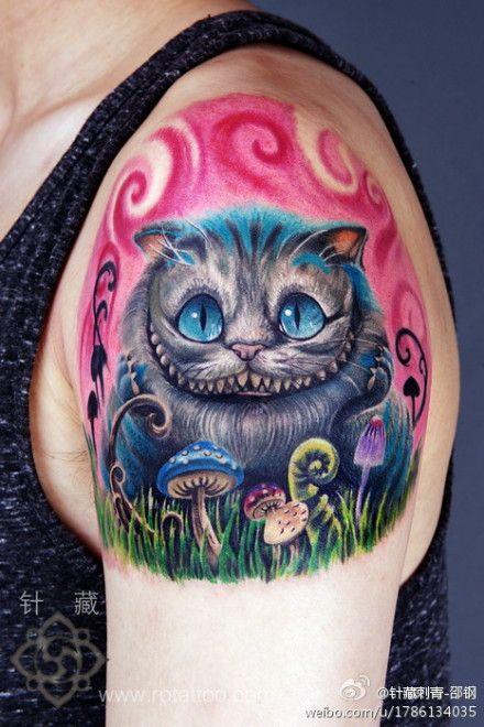 Cheshire Cat Cheshire Cat Pinterest Tattoos Wonderland Tattoo