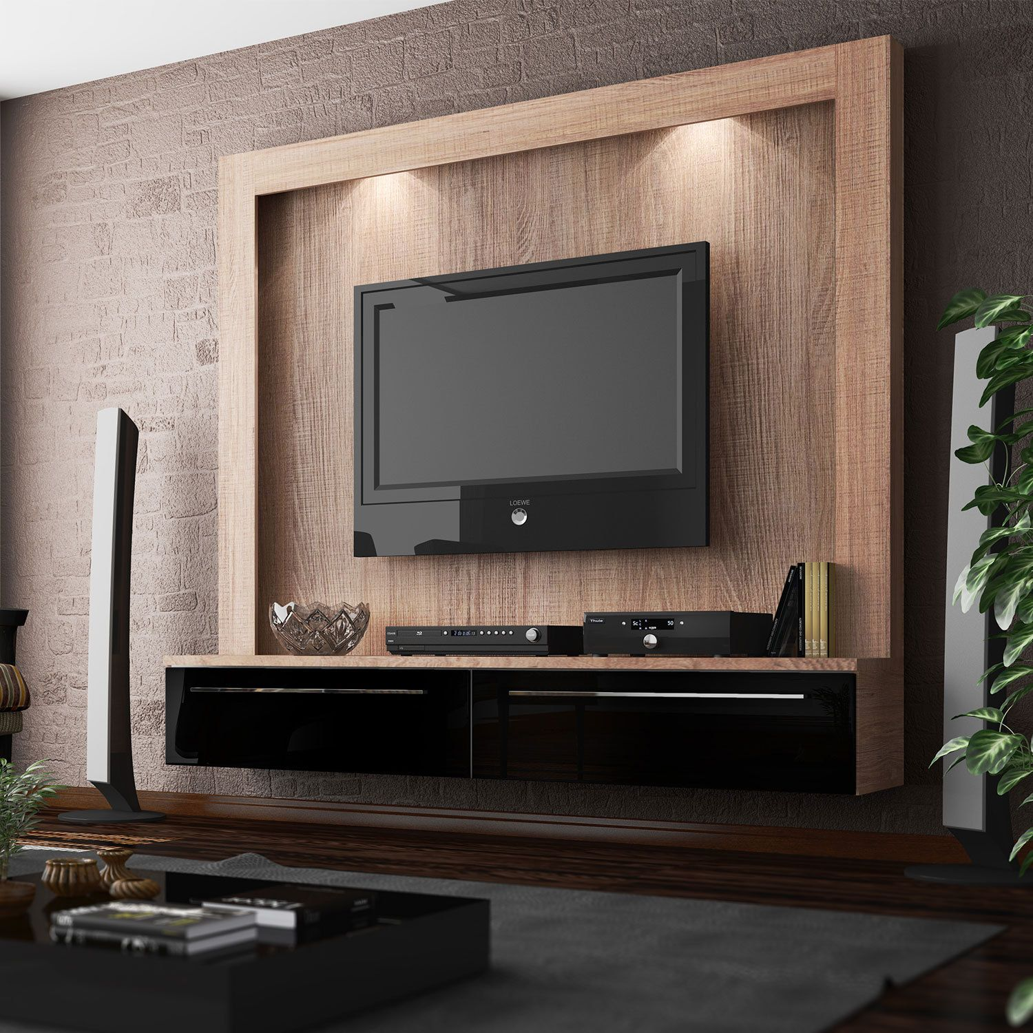 Pin by cassidy goss on for the home pinterest meuble - Modern tv wall unit designs for living room ...