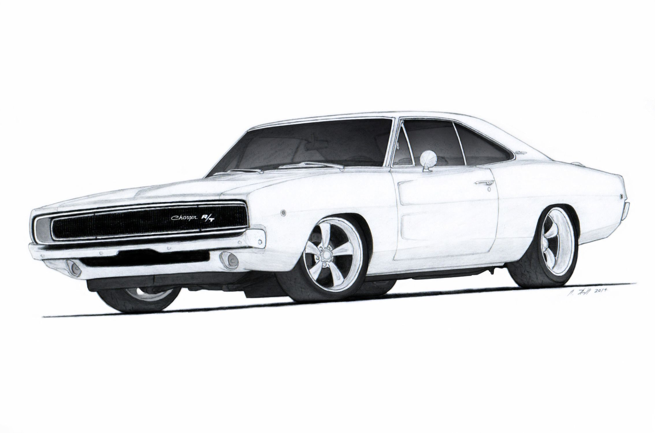 1968 Dodge Charger R/T Drawing by Vertualissimo.deviantart.com on ...
