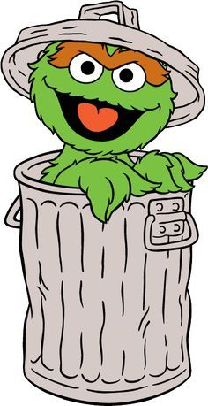 resultado de imagen para oscar the grouch cartoon sesame street rh pinterest com oscar the grouch clipart black and white free oscar the grouch clip art