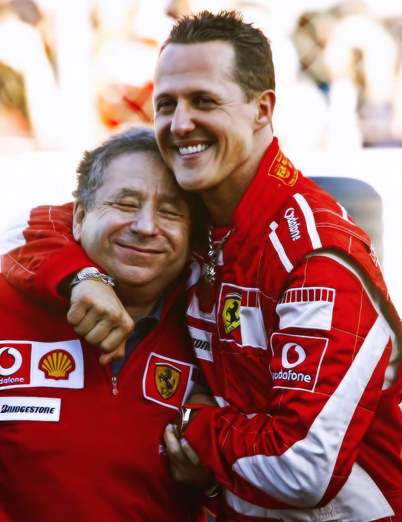 Jean Todt & Michael Schumacher F1 Pinterest