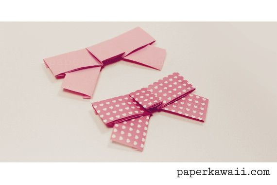 Cute Origami Bow Video Tutorial Gift Bg Pinterest Easy Origami