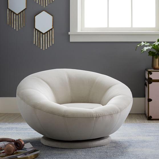 Lustre Velvet Groovy Swivel Chair Modern Swivel Chair Chairs Repurposed Swinging Chair