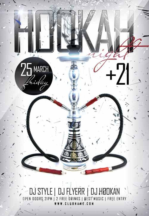 Hookah Night Free Flyer Template - http\/\/freepsdflyer\/hookah - download free flyer templates word