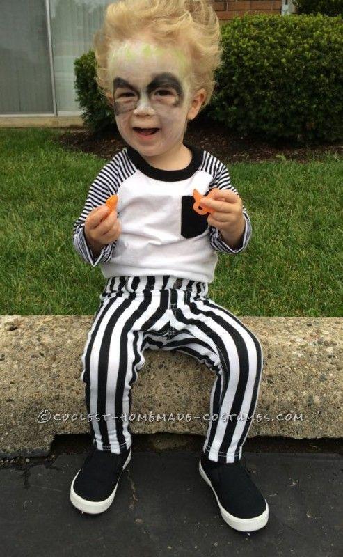 Cute Diy Beetlejuice Costume For A Toddler Diy Halloween Costumes For Kids Boy Halloween Costumes Toddler Boy Halloween Costumes