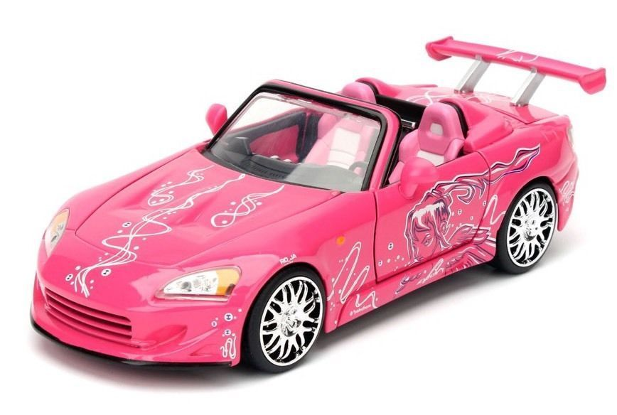 Honda S2000 Sukis Pink Fast Furious 1 24 Scale Diecast Car Model By Jada 97604 New Package Honda S2000 Diecast Model Cars Toy Car