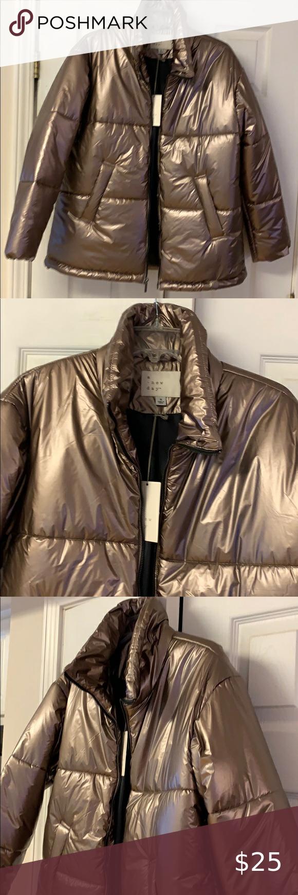 A New Day Blush Puffer Jacket Nwt Sz Medium A New Day Puffer Jackets Jackets [ 1740 x 580 Pixel ]