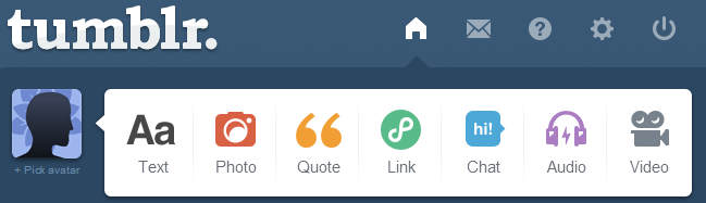 Tumblr is the second most popular social media site behind