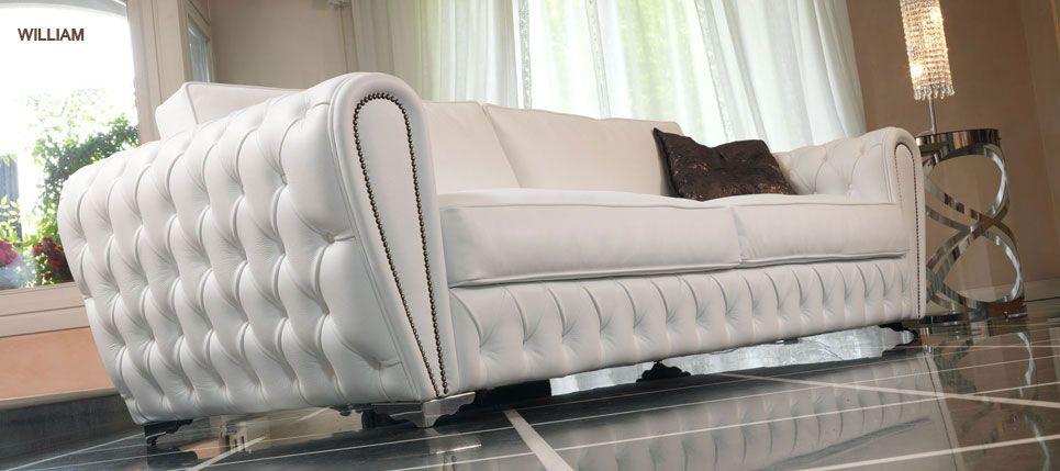 Sofá en cuero blanco | Cuarto | Pinterest | Decoracion de salas ...