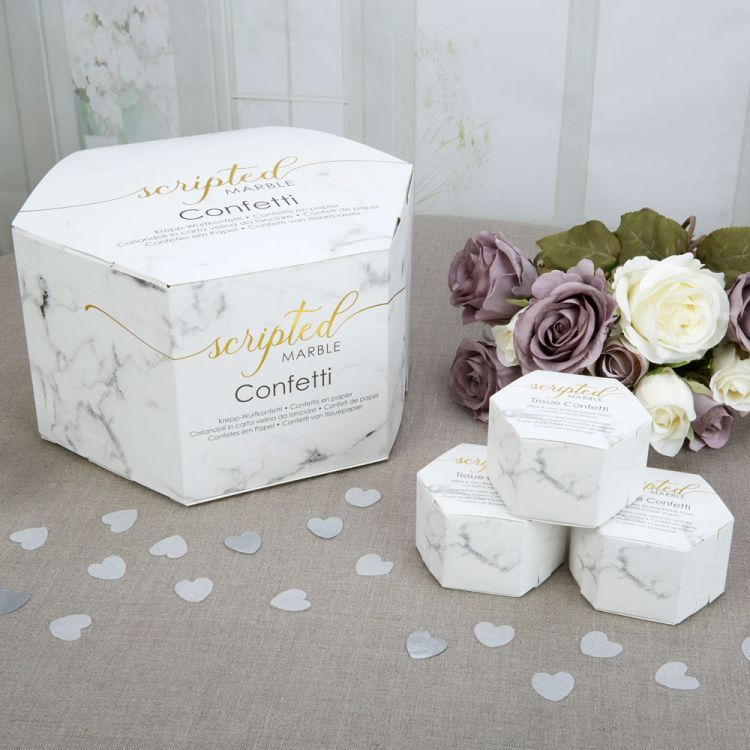 Scripted Marble Pack of 10 Cake Box Neviti