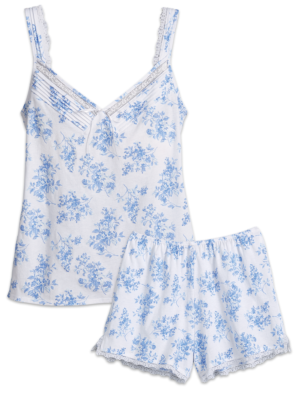 Eileen West Blue Floral Sleep Short Set  1cd4f86dc