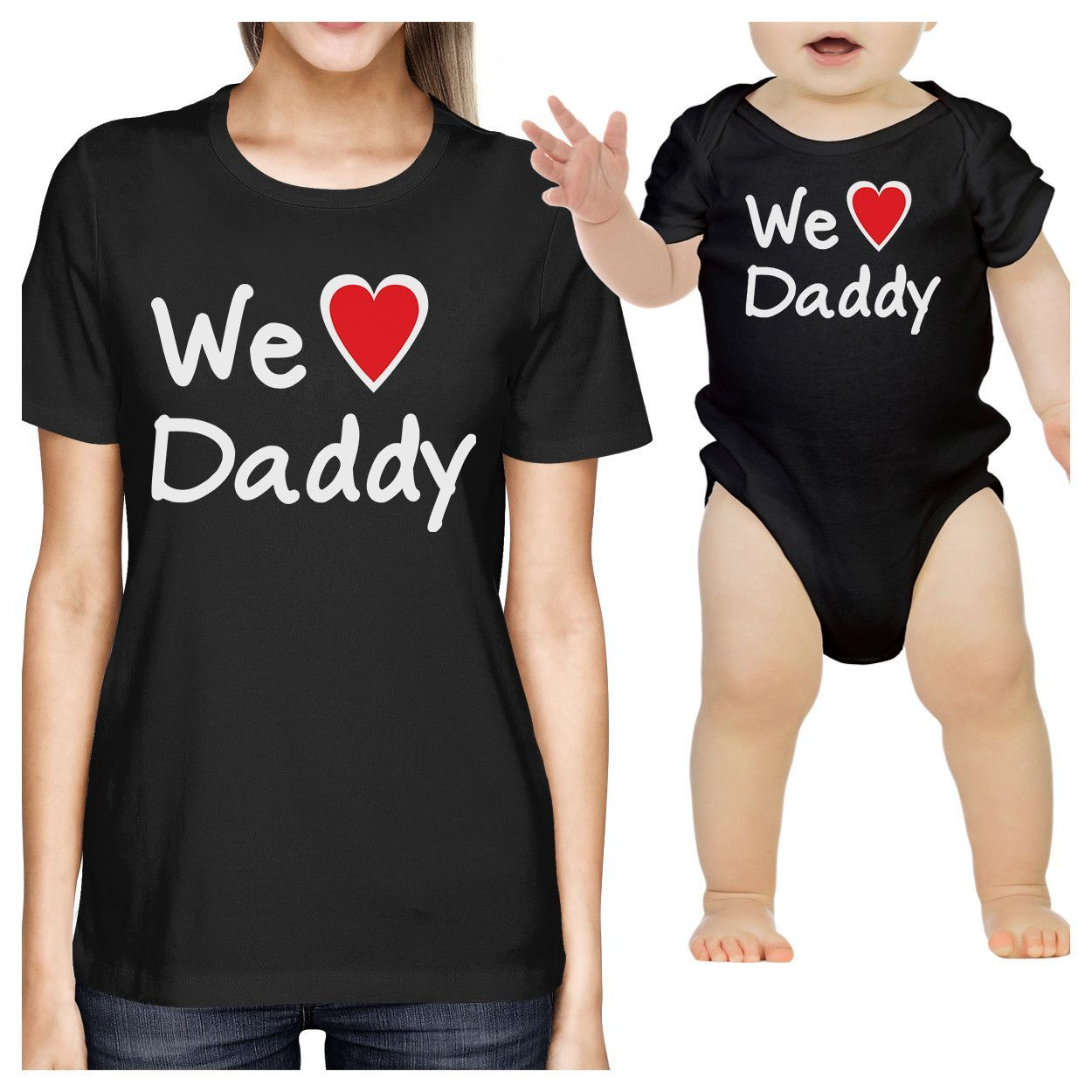 f75c84e58 We Love Daddy Black Mom and Baby Matching Outfits Fathers Day Gifts ...