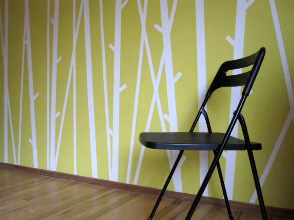 Easy patterns to paint with tape for Wall design with paint