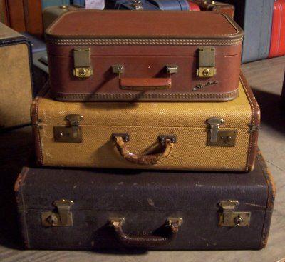 vintage luggage  = Great storage