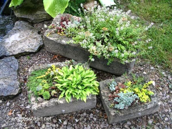 35 Lovely Garden Container Ideas is part of Container Rock garden - Garden container ideas  creative ways to display annuals and perennials in the garden usiing planters and unusual containers