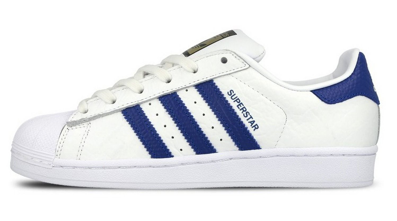 best service 2a11e 40257 Adidas Originals Superstar II Turnschuhe Herren Schuhe Weiß Blau Goldene  Logo