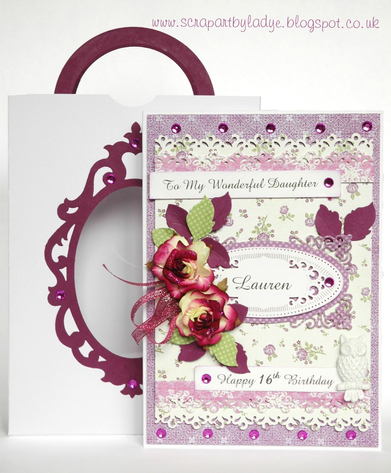 Scrap Art by Lady E Card & Bag / Kartka i Torebka Cards