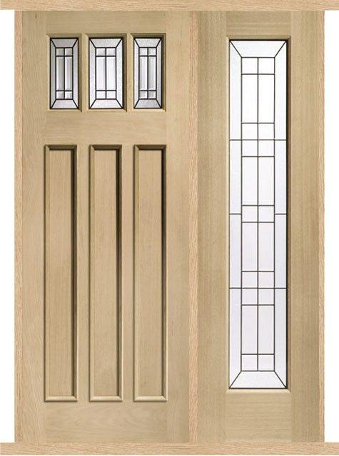 Genial Balmoral Jade Oak External Side Panel Door Set
