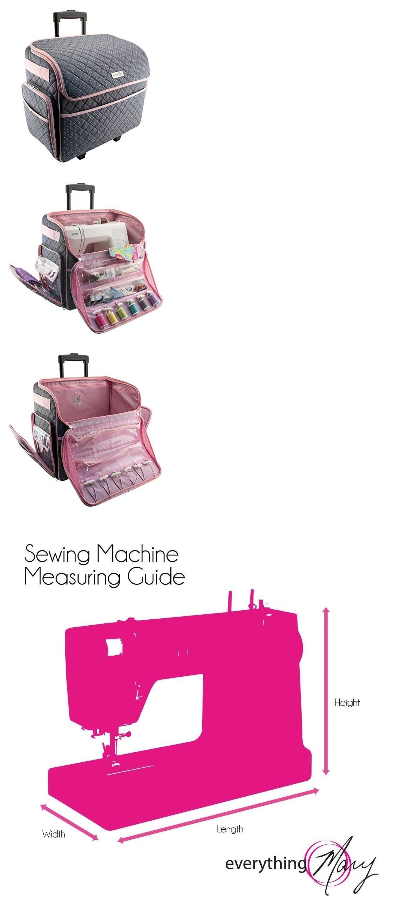 0434ca8154 Scrapbooking Totes 146401  Sewing Machine Case On Wheels Rolling Tote  Carrying Luggage Travel Storage Carry -  BUY IT NOW ONLY   123.95 on eBay!