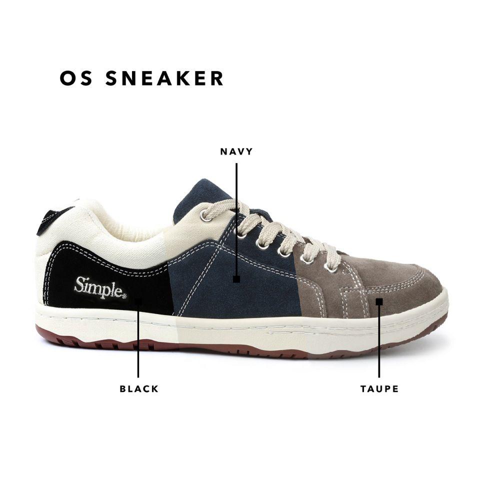 OS Sneaker - Suede - Navy | Simple