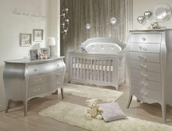 Kinderzimmer Einrichtung Baby kinderzimmer möbel silberne farbe kinderbett kommode all things