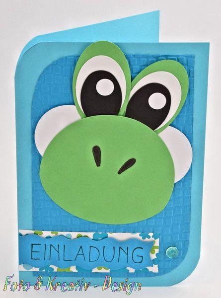 dino - einladung - kindergeburtstag | yoshi, Einladungen