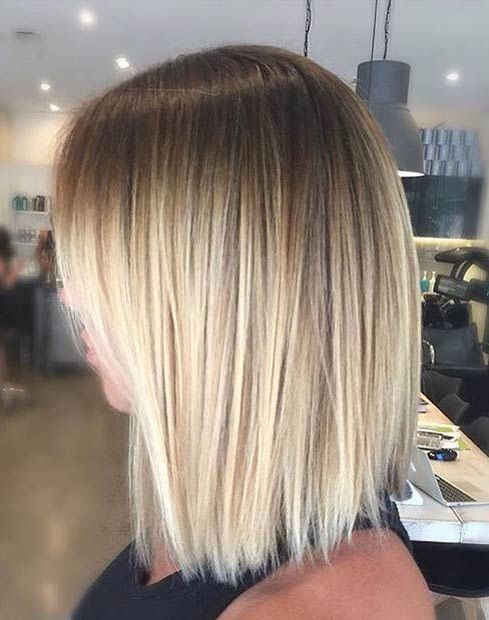 Short Blonde Ombre Balayage Straight Hair Balayage Hair Short Hair Balayage