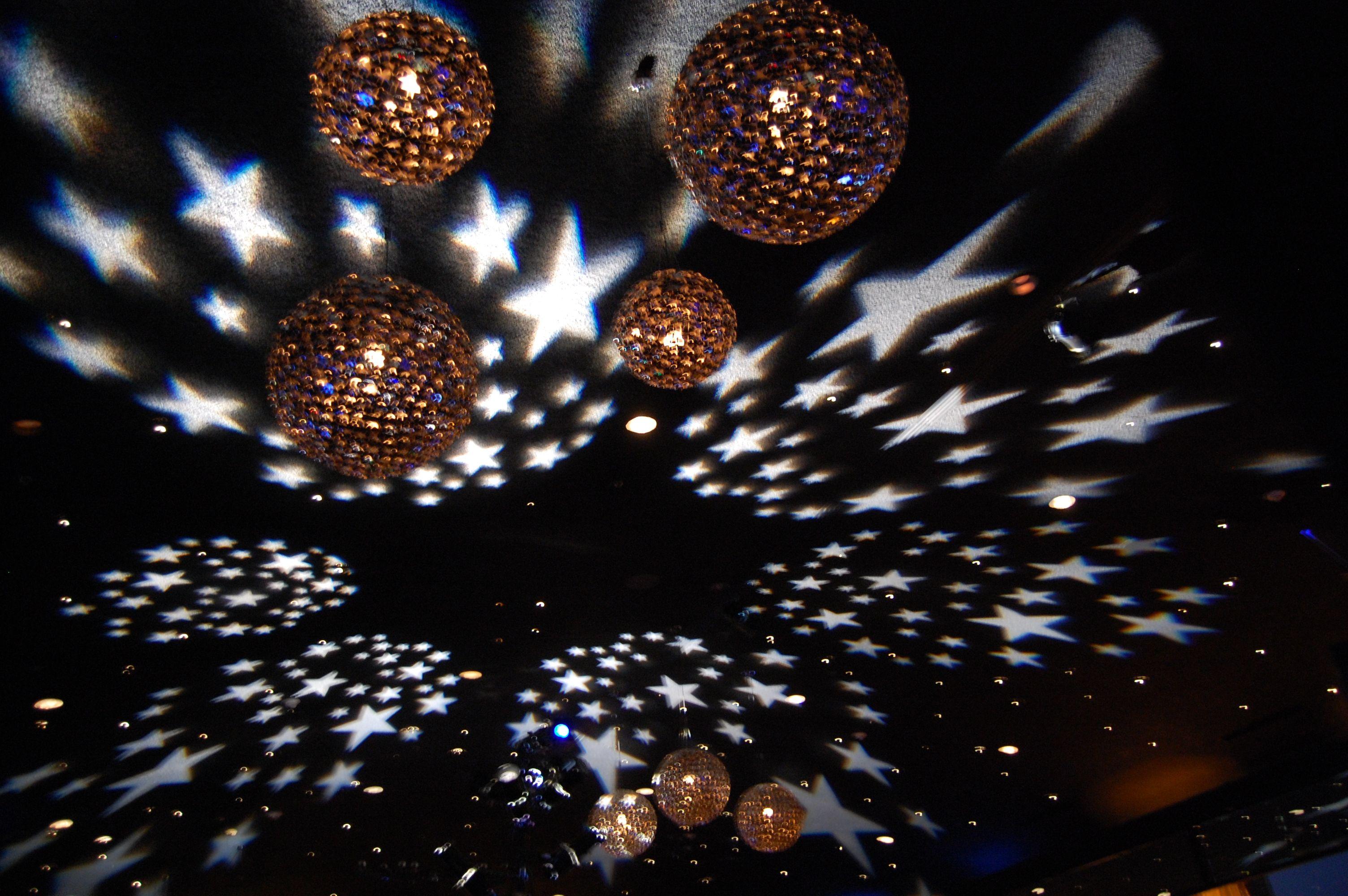 Starry night - Corporate event - bar bat mitzvah - Sweet 16 - Ceiling lighting - Stars - Lighting design - DB Creativity - laura@dbcreativity.com