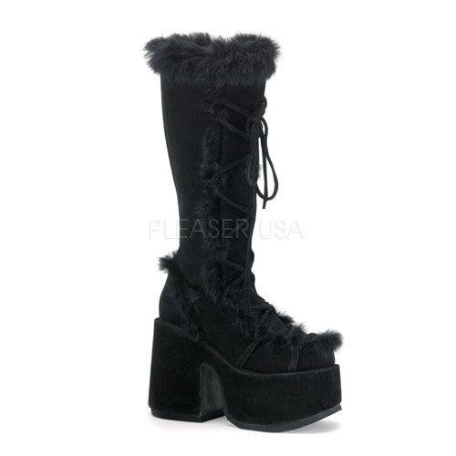 Pleaser Demonia Gothic Stiefel CAMEL-311