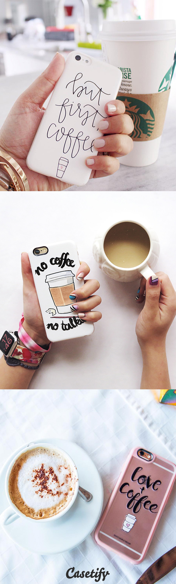 All time favourite Coffee iPhone 6 protective phone case designs | Click through to see more iphone phone case ideas >>> https://www.casetify.com/collections/iphone-6s-coffee-cases#/?device=iphone-6s | @casetify