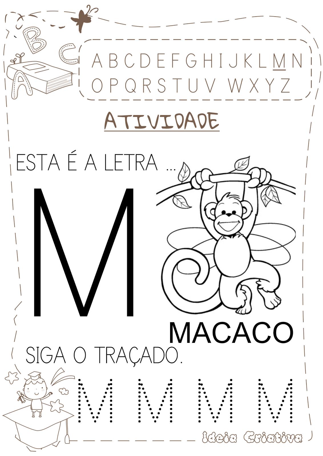 Amado Atividade Letra M com pontilhado | AEE | Pinterest | Letras  MV04