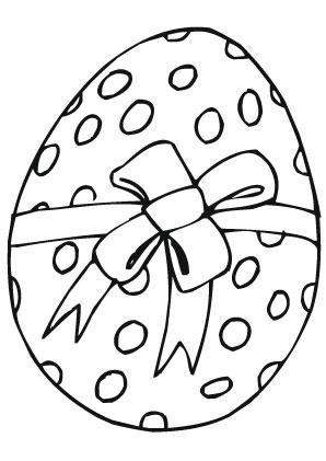 Osterei Malvorlagen Ausmalbilder Osterei Gepunktet Mit Schleife Ostereier Malvorlagen Vorlage Kartu Kartun Gambar